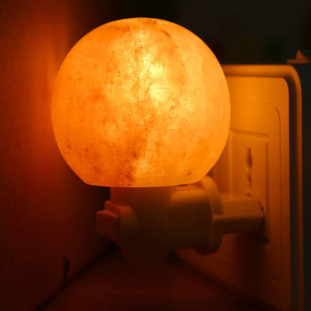 Round Himalayan Salt Light Mini Decorative Wall Light Salt Lampshade for Bedrooms Home CLH@8