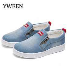 YWEEN Wholesale Women shoes new fashion denim women casual femme Slip-on canvas sneakers plus size