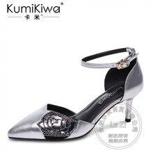 Schwelle Pu Glamour Knoechelriemchen Fersen Silber Concise Mode Schuhe Frau Vollnarbenleder Buckle Für Verkauf Täglichen Weichem Leder