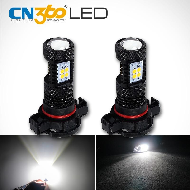 CN360 2PCS Yüksək Güclü Ağ H16 5202 LED Dumanlı işıq lampası - Avtomobil işıqları - Fotoqrafiya 1