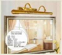 European Copper Mirror Lamp Indoor Wall Sconce Lighting Swing Arm Mirror Lighting LED Wall Sconces Decoration Indoor Lighting