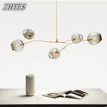 Glass Chandelier Restaurant Creative Personality Modern Living Room Lamp Lighting  Bar Designer Lindsey Lights недорого