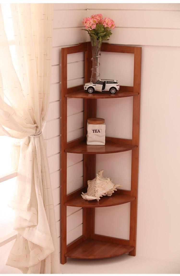 Good Bamboo Rectangular Storage Shelf Corner Shelf Corner Shelf Fan Waterproof  Bathroom Bathroom Storage Rack Three Corner In Swivel Plates From Home  Improvement ...