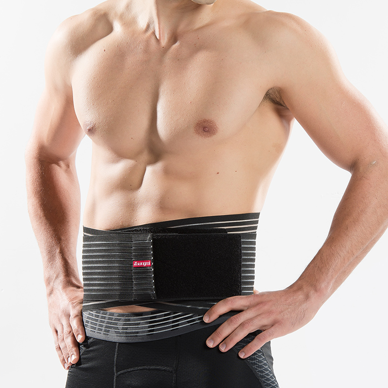 Kuangmi Double Pull Lumbar Back Brace Exercise Belt Waist Support - Sportswear and Accessories - Photo 2