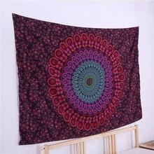 Bohemia Tapestry Indian Mandala Tapestry Hippie Chiffon Wall Hanging Tapestries Boho Bedspread Yoga Mat Blanket Bed Table Cloth