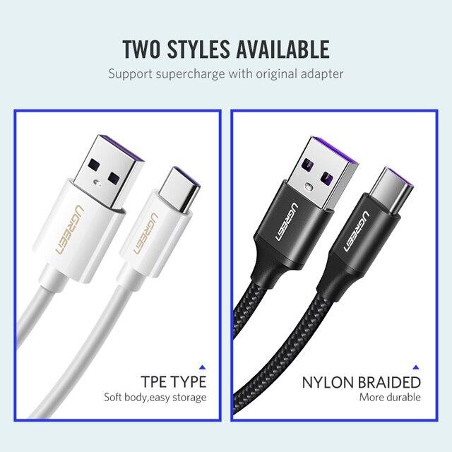 Кабель зарядки и передачи данных USB – Type-C, Ugreen