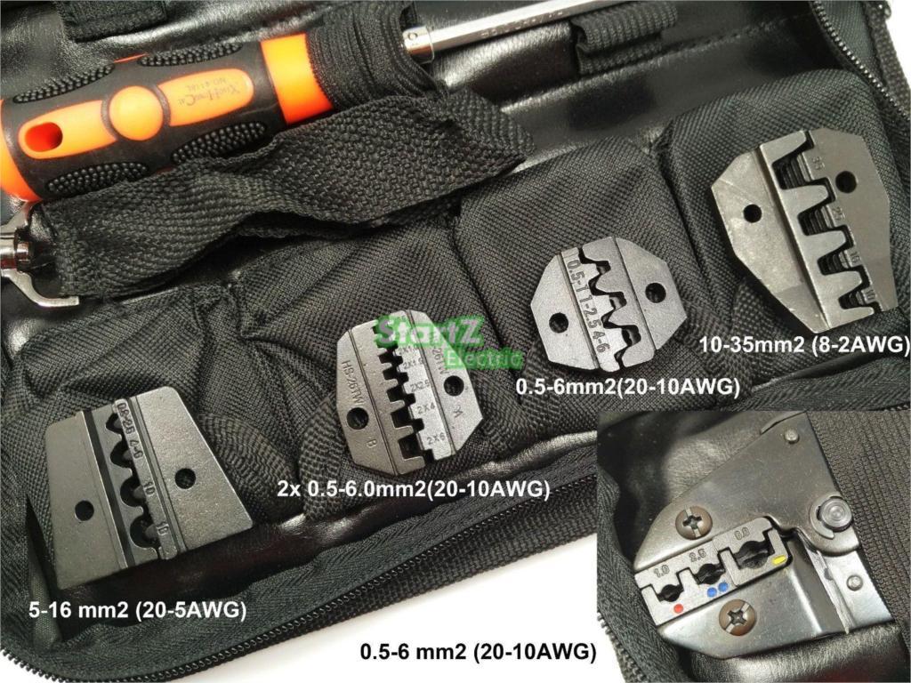 Gofravimo rankinis įrankis su die die elektriko gniuždymo vielos - Įrankių komplektai - Nuotrauka 4