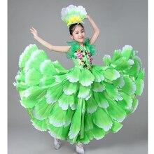 Детские костюмы для испанских танцоров, сексуальное платье для фламенко, костюмы для девочек, платье для бальных танцев с цветами, 360 градусов