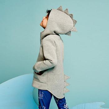 2017 dzieci Kid Baby kurtki kurtki styl dinozaurów Bluza z kapturem Odzież D50 tanie i dobre opinie Pełne Moda Stałe Unisex BABY BALL Pasuje do rozmiaru Weź swój normalny rozmiar Hooded Wełniane Bawełna Baby Romper