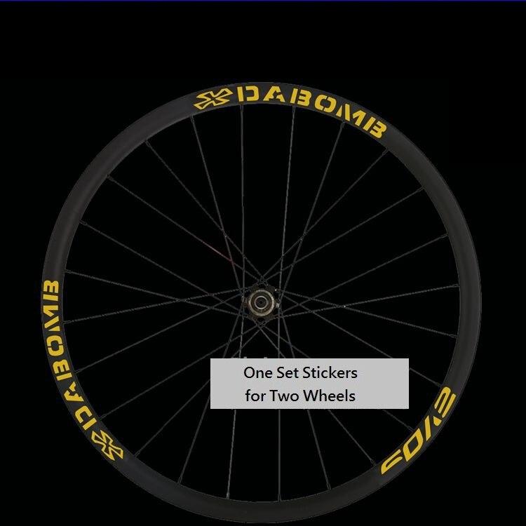 Wheel Sticker Set for DABOMB Mountain Bike Bicycle MTB Rim Reflective Fluorescent Color 26er 27.5er 29er