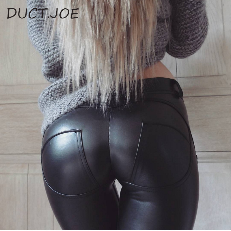 DUCTJOE New Women's Peach Hip   Leggings   Sexy Slim Bodybuilding Leggins FitnessTrousers Knitted Stretch High Waist Female   Leggings