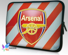 13; 15'17' Couverture de Caisse de Douille Pour Ipad Portable Tablet Netbook logo avec Espagne football club de Barcelone Arsenal ac milan