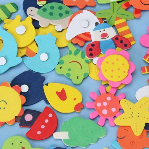 SZS Gorący 48 sztuk kolorowe drewniane magnesy rysunek anime dla dzieci.