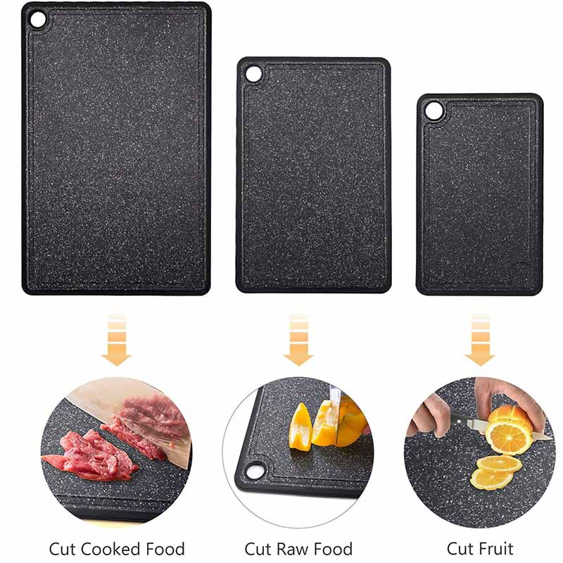 TEENRA Plastic Cutting Mat With Marble Grain Design For Fruit And Vegetable 5