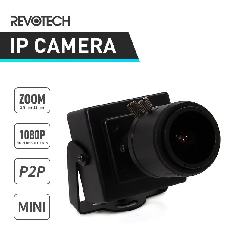 imágenes para HD 1920x1080 P 2.0MP 2.8-12mm Lente de Zoom Manual de Tipo Mini Cámara de interior del IP Cámara ONVIF P2P IP CCTV Cámara de Seguridad de Metal sistema