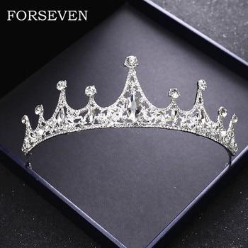 Принцесса Кристалл Crwon свадебные аксессуары для волос свадебная корона диадема головной убор свадебная диадема ювелирные изделия