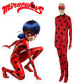 Ladybug Marinette cosplay costumes Japanese France anime Miraculous Ladybug Lycra Spandex Bodysuit Full Body Skin Tight Suit