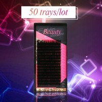 Mling 50 cases/lot eyelashes extension for russian volume premium quality mink eyelash extension individual lashes extension