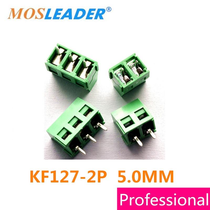 Mosleader Terminals KF127 2P 1000PCS Iron KF127 5 0 2P 300V 10A Screw 3Pin 5 0