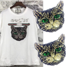 Big Cool Cat Patch for Clothing Embroidery Sew on Patch Applique for  Clothes Big Back Patch c47bcf2e048e