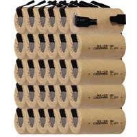 Самая низкая цена 30 шт SC батарея 1,2 v батареи перезаряжаемые 1300mAh nicd Батарея для электроинструментов akkumulator