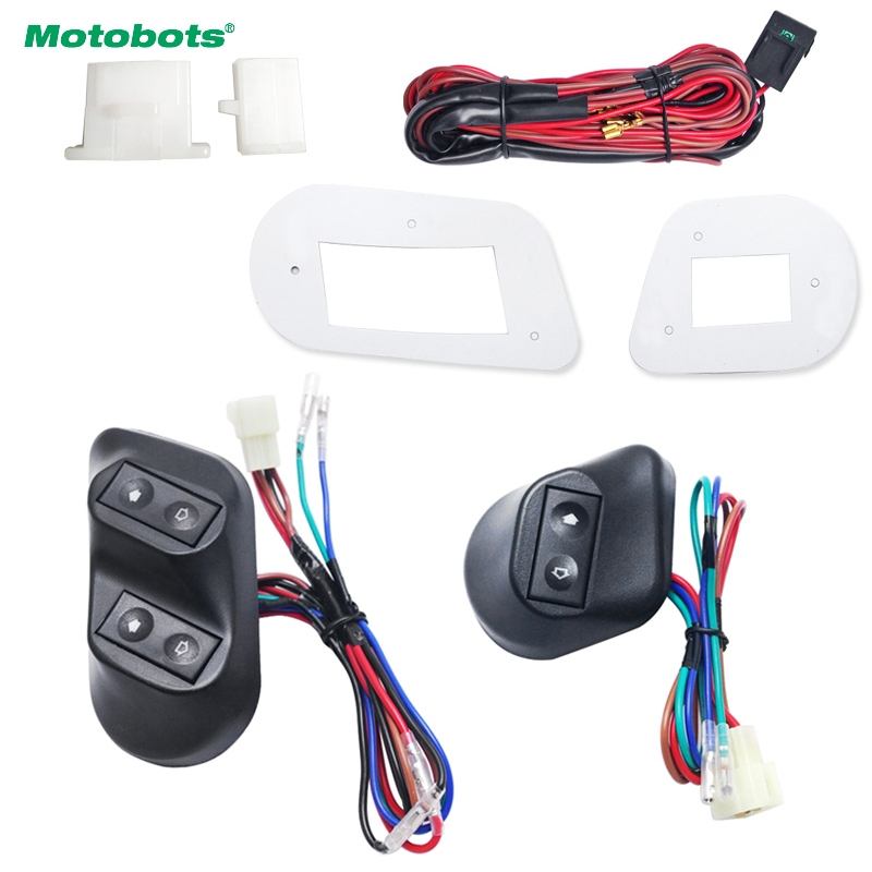 MOTOBOTS 1Set New Universal 12V/24V 3pcs Buttons Car Power Window Switches With Holder & Wire Harness #FD3938