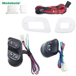 Motobots 1 Set New Universal 12 V/24 V 3 Pcs Tombol Mobil Jendela Switch dengan Holder kawat Harness # FD3938