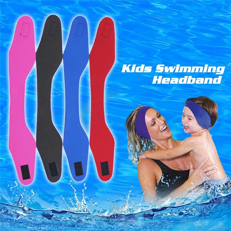 Для плавания, уши, обруч на голову для мужчин и женщин для взрослых и детей Неопреновая повязка для ушей купания, повязка на голову, воды защи...