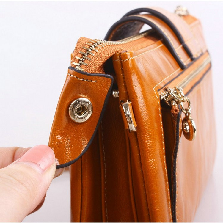 leather chain wallets for women