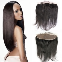 7A Unprocessed Peruvian Virgin Human Hair Straight Lace Frontal Closure 13×4 Ear to Ear Lace Frontal With Baby Hair
