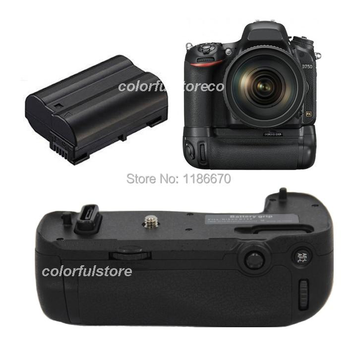 2-Step Vertical Power Shutter Battery Handle Hand Grip Pack Holder For Nikon D750 SLR DSLR Camera as MB-D16 MBD16 + 1 x EN-EL15 new arrival battery handle hand grip pack holder vertical power shutter for nikon d750 camera as mb d16 2 x en el15 car charger