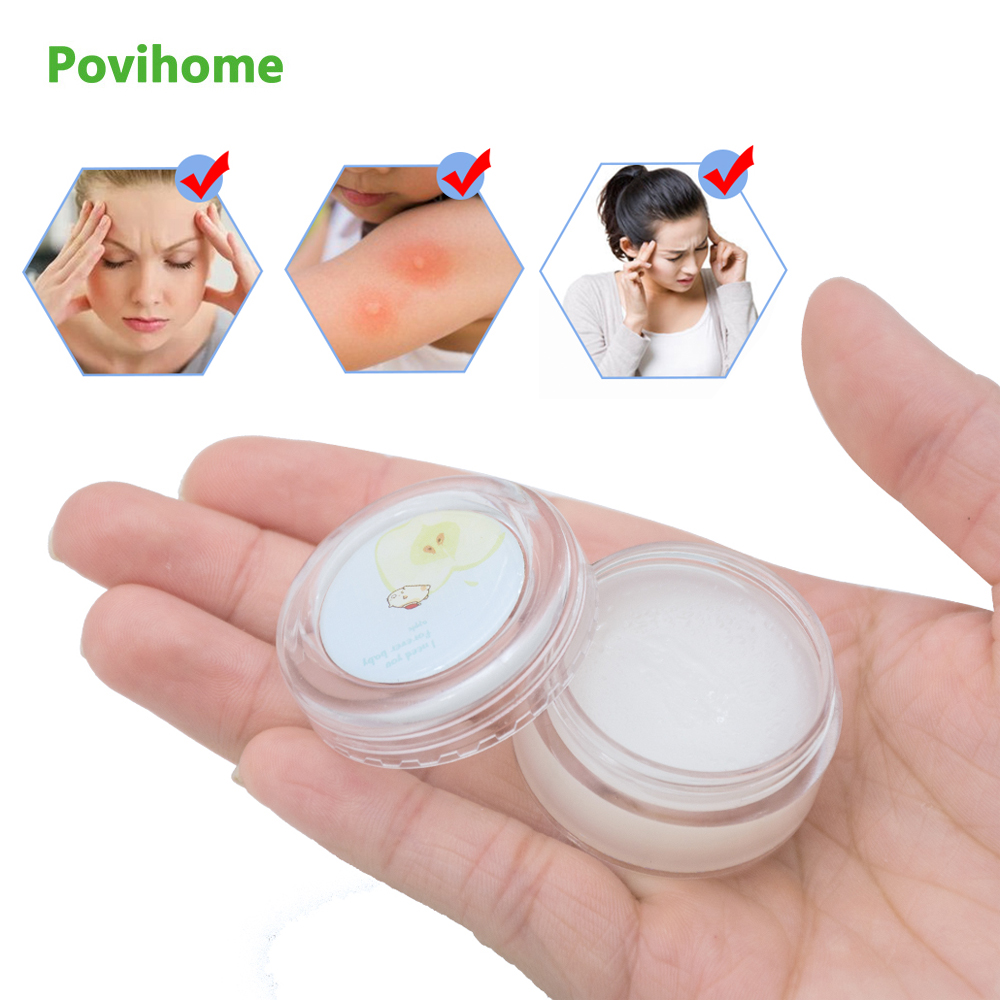 1pcs Cartoon Cooling Oil Refresh Cream Cold Headache Dizziness Muscle Rub Aches Medical Plaster Cool Ointment P0010