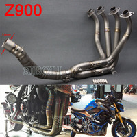For KAWASAKI Z900 Motorcycle Full Systems Exhaust Header Pipe Titanium Alloy 51mm Inlet Front Pipe Slip On Bend Tube