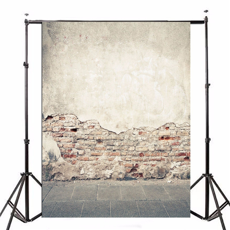 5x7ft Vinyl Photography Background Studio Photo Props Broken Brick Wall Floor Backdrop Waterproof Lightweight 2.1m x 1.5m promotion 6pcs option 100