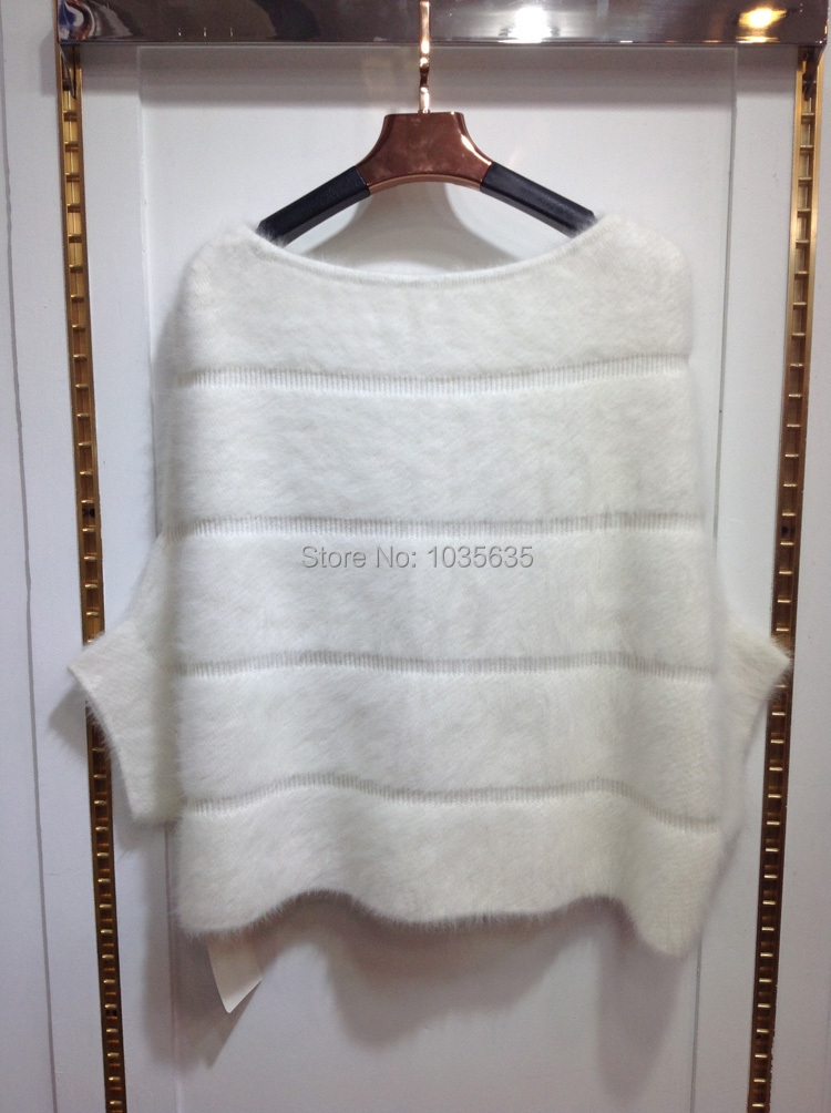 New Real Natural Mink Fur Pullover Oneck Batwing Short Coat For Women Fashion Free Shipping TFP399