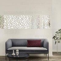 DIY uğurlu bulutlar desen geleneksel Çince 3D dekorasyon ayna sanat duvar ev dekor oturma odası TV duvar çıkartma posteri R124