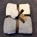Baby дети вязание одеяло пеленание Новорожденного кондиционер коляска одеяло Милый Кролик кролик дизайн Игровой Коврик