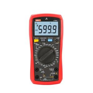 Image 4 - يوني تي رقمي متعدد UT890C UT890D + 6000 التهم دليل تردد درجة الحرارة الجهد أمبير التيار المتناوب تيار مستمر DMM مكثف تستر NCV