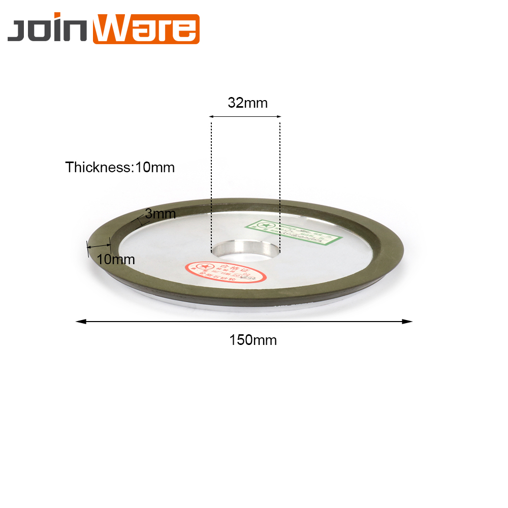 150MM 320 Grit Diamond Grinding Wheel Disc Rotary Abrasive Tool Carbide Metal Steel For Milling Cutter Power Tool Accessories