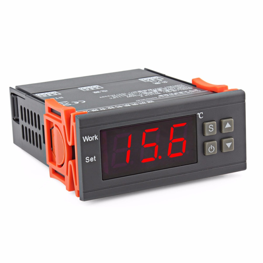 90V~250V Water Tanks / Refrigerator /industrial equipment Temperature Controller with sensor -50~110 Celsius Degree display