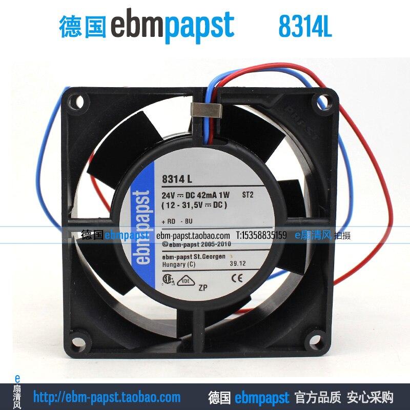 Ebm papst 8314L 8314 L DC 24 V 42mA 1 W 80x80x32mm Sunucu Kare FanEbm papst 8314L 8314 L DC 24 V 42mA 1 W 80x80x32mm Sunucu Kare Fan