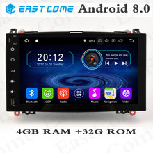9Octa Core 4GB RAM Touch Screen Android 8.0 Car DVD for Mercedes Benz Sprinter Vito W169 W245 W469 W639 B200 Car GPS Radio eunavi octa core android 8 0 car dvd for mercedes benz r class w251 r280 r300 r320 r350 gps radio stereo 4gb ram 32gb rom