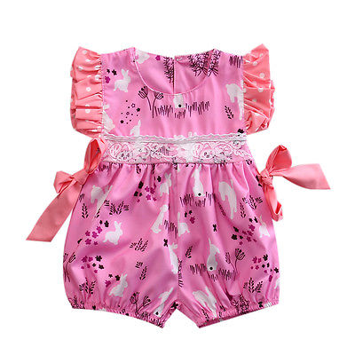 Newborn Infant Baby Girls Clothes Bubble Ruffle Bowknot Romper Jumpsuit Summer Girls Clothing Cotton Baby Outfit 0-18M fashion 2pcs set newborn baby girls jumpsuit toddler girls flower pattern outfit clothes romper bodysuit pants