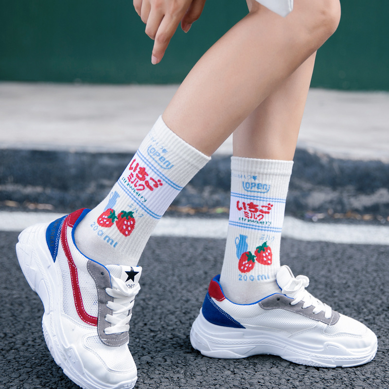 Women Sock Warm Socks  Womens Winter Fashion Korean Japanese Style Cute Kawaii Cotton Casual