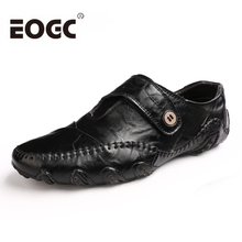New Design Men Casual shoes Spring Summer Flat Shoes Soft Split Leather Male Moccasin Driving Loafers Sapatos Homens