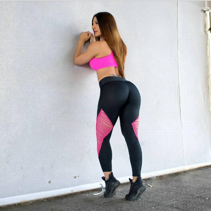 Fitness leg lady wear protective leg summer pants skinny hot style fashion sexy spliced trousers sexy leggings