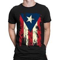 Apenada Vintage de la Bandera de Puerto Rico, Camiseta de Los Hombres SpiritForged Ropa Nueva Camiseta Hombres Camisetas de La Moda Camiseta Más Tamaño Superior