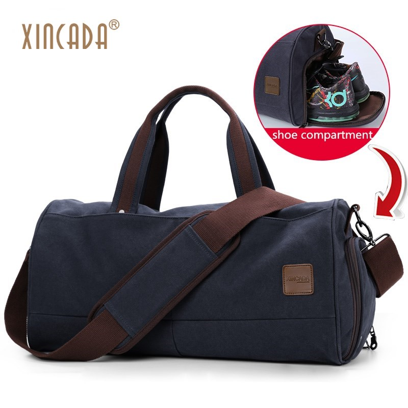 XINCADA Men Canvas Travel Duffle Bags Casual Vintage Luggage Bag Large Capacity Weekender Bag Large Travel Bag Overnight 2017 new fashion brand vintage backpack large capacity men male luggage bag canvas travel bags top quality travel duffle bag man