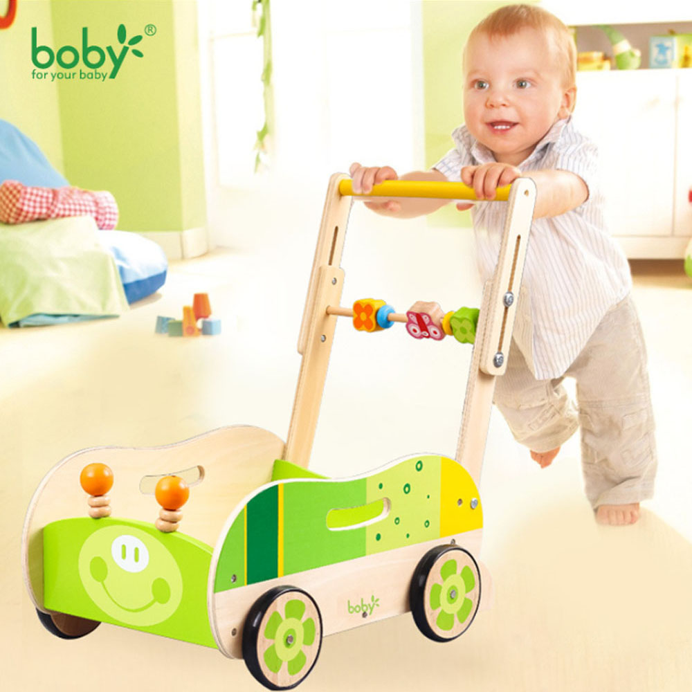 fold baby wooden walker with cartoon animal, height and speed can adjust baby walker, multifunctional cute baby walker musical 2 in 1 lion baby walker and can use as seat