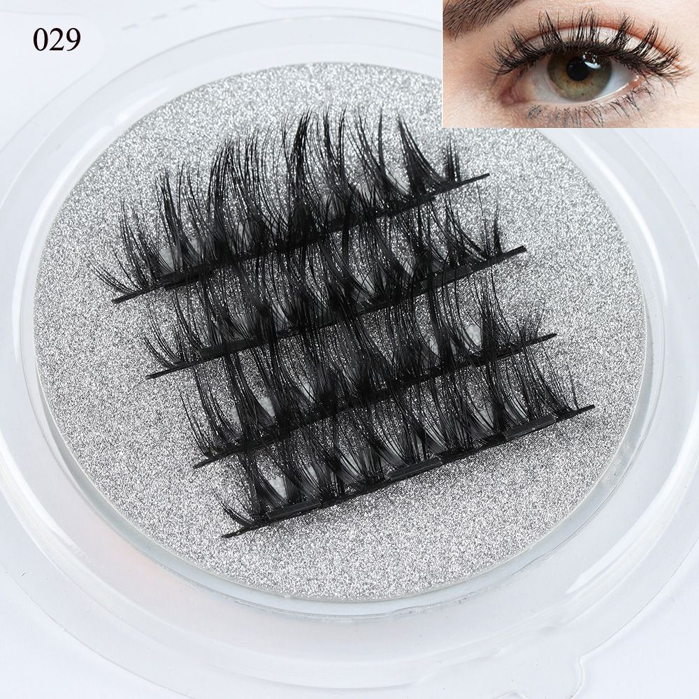<font><b>2</b></font> <font><b>Pairs</b></font> 0.07 Triple Magnetic False <font><b>Eyelashes</b></font> Extension Tools Full Coverage Glue-free Magnets Eye Lashes Thick Long Makeup Tools image